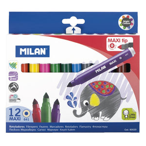 Milan Maxi Tip Markers 12 Pack