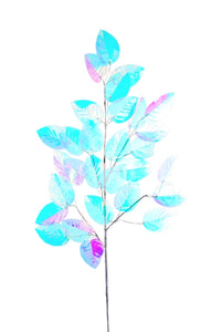 Iridescent Holiday Leaves Sprig Decoration