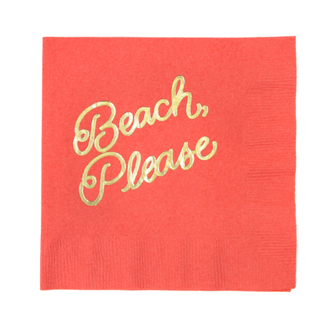 Beach, Please Cocktail Napkins