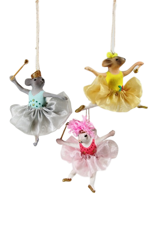 Ballerina Mice Ornament