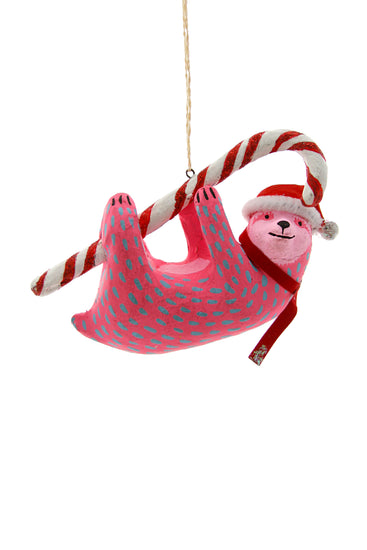 Candy Cane Sloth Ornament