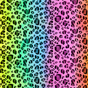 Rainbow Leopard Wrapping Paper