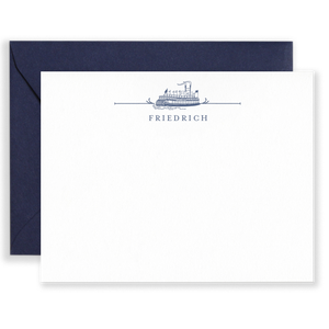 Personalized Steamboat Social Stationery