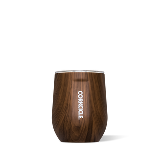 Walnut Wood 12oz Stemless