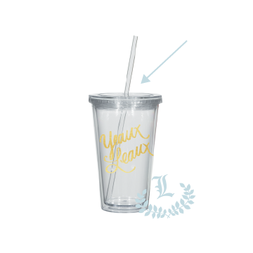 Tumbler Replacement Lid + Straw