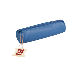 Leather Pencil Case - Blue