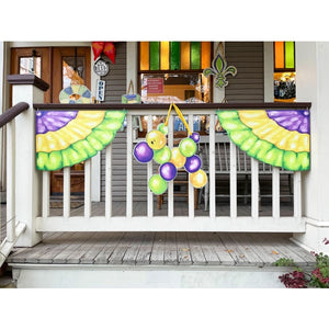 "Mardi Gras ""Bunting"" Decor Left + Right Corner"