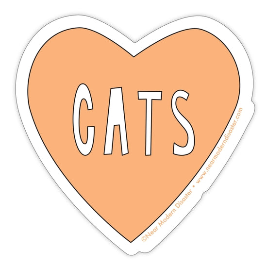 Heart Cats Sticker