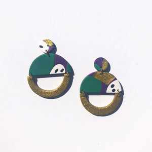 Cleo Abstract Carnival Earrings