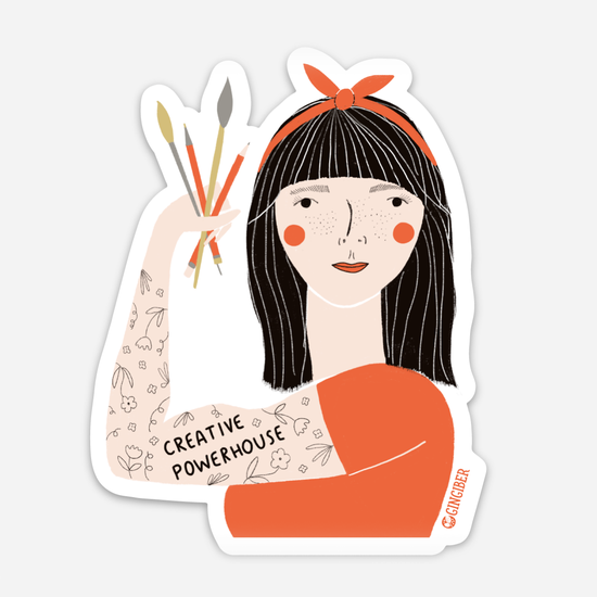 Creative Powerhouse Sticker -- Red Headband