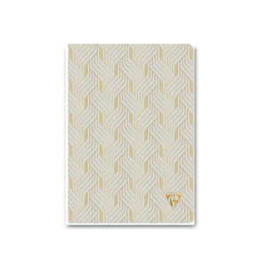 Pastel Deco Notebook - Pearl Grey