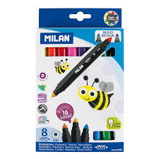 Milan Maxi Bicolor Markers 8 Pack