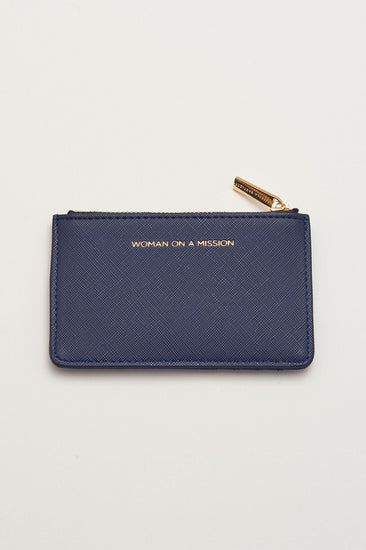 Navy Woman On A Mission Card Wallet