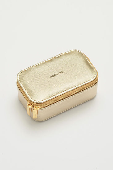 Gold Dream Big Mini Jewelry Box