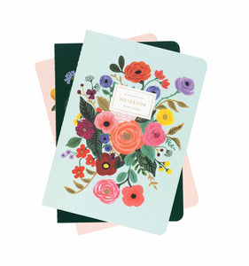 Garden Party Set of 3 Assorted Notebooks