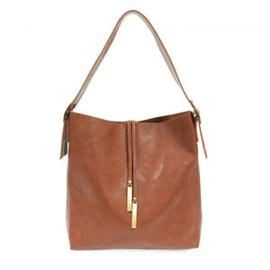 Cognac Jillian Hobo with Tassel