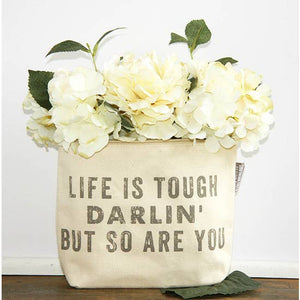 Life is Tough Darlin Zipper Pouch