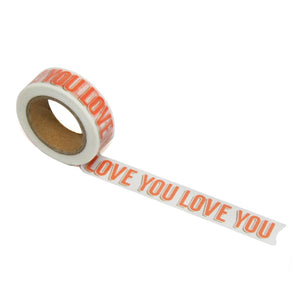 "Coral ""Love You"" Washi Tape"