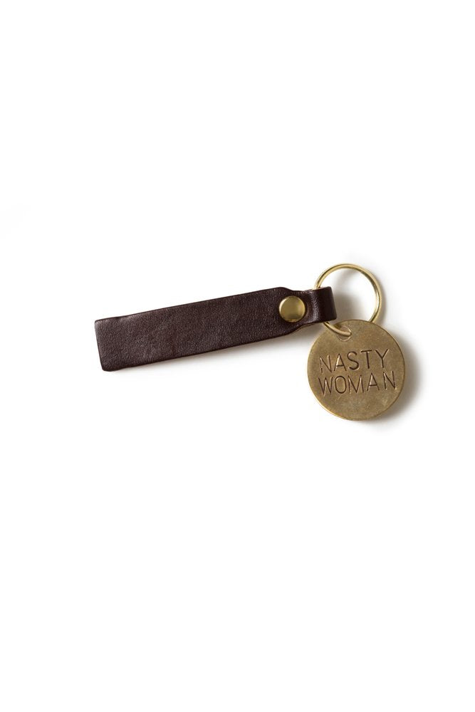 He Said, She Said Leather Keytag