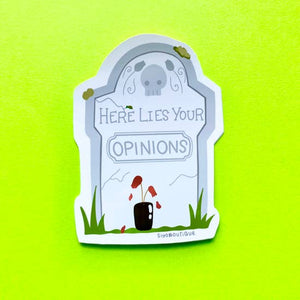 Tombstone Opinion Sticker