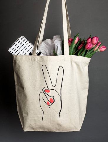 Peace Hand Tote
