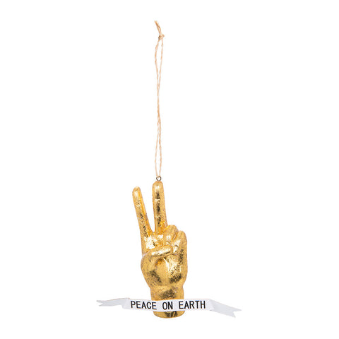 Peace Hand Ornament