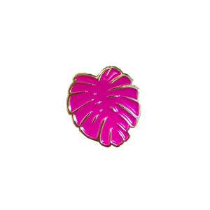 Pink Monstera Pin