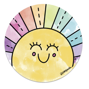 Rainbow Sunshine Sticker