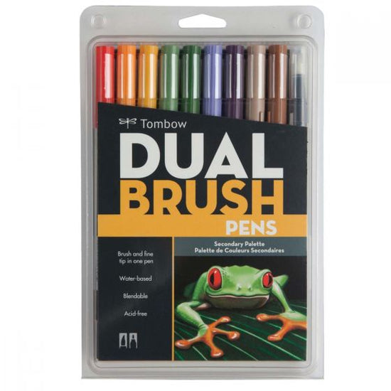 Tombow Dual Brush Pen 10 Pack - Secondary