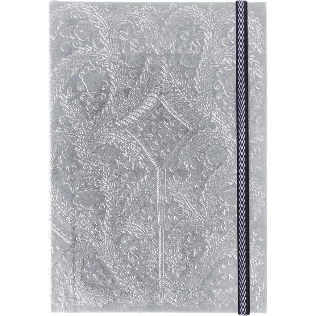 Christian Lacroix Embossed Notebook - Silver