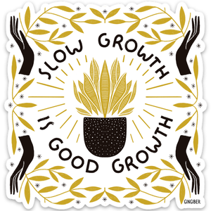 Slow Growth Sticker