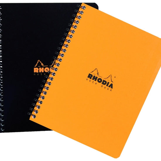 Rhodia Spiral Notebook 9 x 11.75 -- Black Lined