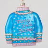 Christmas Sweater Ornament-- Blue