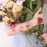 Scented Floral Temporary Tattoo Pack