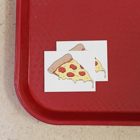 Pizza Temporary Tattoo Set
