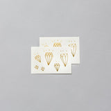 Gold Diamonds Temporary Tattoo Set