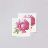 Scented Pink Peony Temporary Tattoo Set