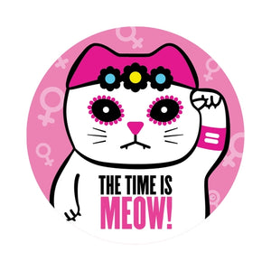 The Time is Meow Sticker