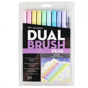 Tombow Dual Brush Pen 10 Pack - Pastel