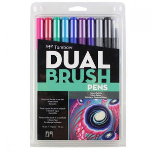 Tombow Dual Brush Pen 10 Pack - Galaxy
