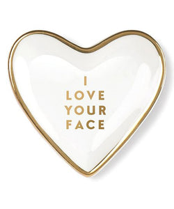 I Love Your Face Heart Tray