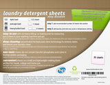 Homevative Laundry Detergent Sheets, Unscented, Sensitive Skin, 30 count