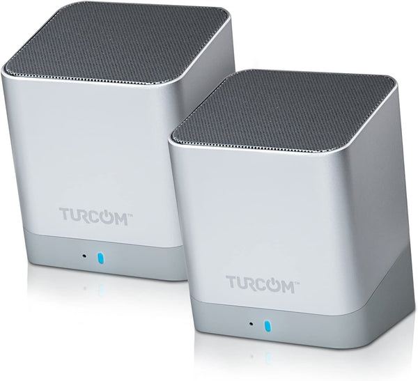 Turcom Stereo Computer Speakers Wireless Dual Bluetooth Mini PC Speakers