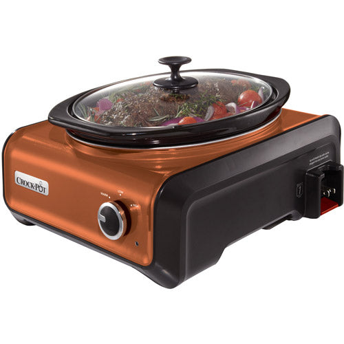 Crock-Pot SCCPMD3-CP Hook Up Connectable Entertaining System, 3.5-Quart, Copper