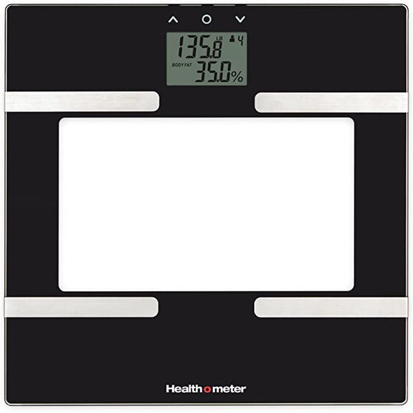Health o meter BFM600KD-53 Glass Body Fat Scale, Clear/Black