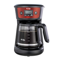 Mr. Coffee 12-Cup Programmable Coffeemaker, Strong Brew Selector, Cranberry Stainless Steel