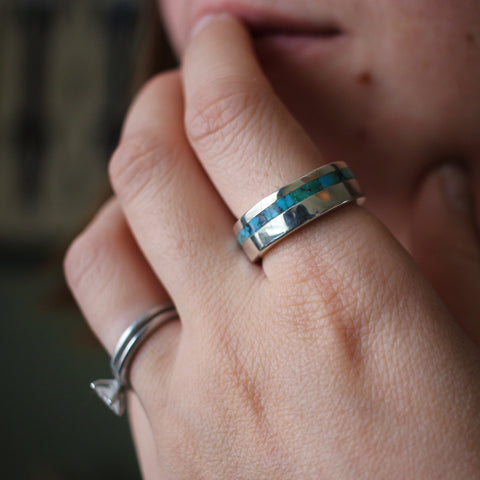Asymmetric Inlay Ring