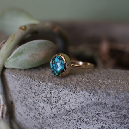 14k Blue Moon Turquoise Ring
