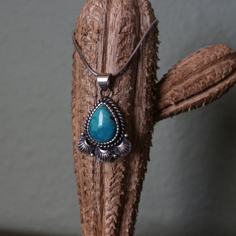 Carico Lake Turquoise Water Droplet Pendant
