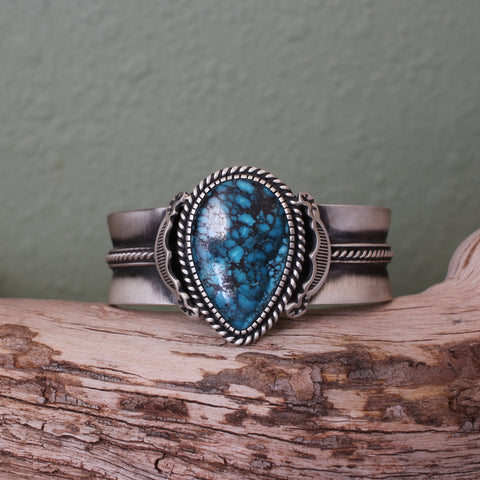 Cloud Mountain Turquoise and Sterling Silver Cuff